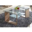 Konferenční stolek, dub + sklo, VLASTA