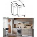 Skříňka do kuchyně, dolní, dub sonoma / bílá, Cyra NEW D 80