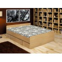 Postel se zásuvkami, buk, 140x200, DUET 80262