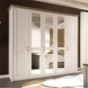 5-dveřová skříň, DTD fóliovaná, pinie bílá / dub sonoma truflový, LUMERA