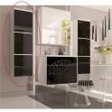 Vysoká skříňka, bílá / černý HG, MASON