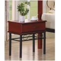 Noční stolek, kov + tmavý dub, CELESTA