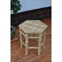 Bambusový stolek šestihran L