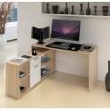 PC stůl, dub sonoma / bílá, NOE NEW