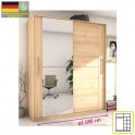 Skříň dvoudveřová kombinovaná se zrcadlem, šířka: 180 cm, buk iconic, Rombo CO-28