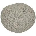 Pletený taburet, hnědošedá bavlna, GOBI TYP 1