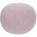Pletený taburet, pudrová růžová bavlna,, GOBI TYP 2