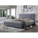 Manželská postel, šedá, 160x200, BALDER