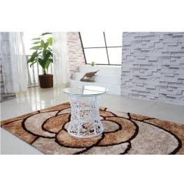 Příruční stolek, bílá, SALMAR